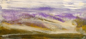 'Above Dalwhinnie', Acrylic & Pastel, 2009