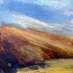 136 'Autumn grass, Beinn Inverveigh', Acrylic & Pastel, 2009, 30 x 30 cm