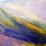 'Below Mid Hill, Luss', Acrylic & Pastel, 2009, 90 x 60 cm