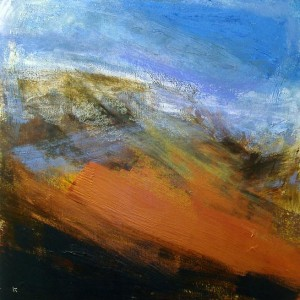L138a 'December afternoon, Glen Lyon', Acrylic & Pastel, 2009, 80 x 80 cm