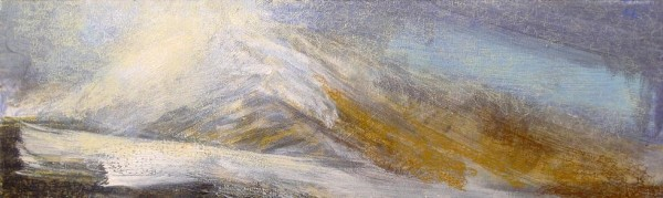 'Winter, Blackmount', Acrylic & Pastel, 2010, 76 x 23 cm