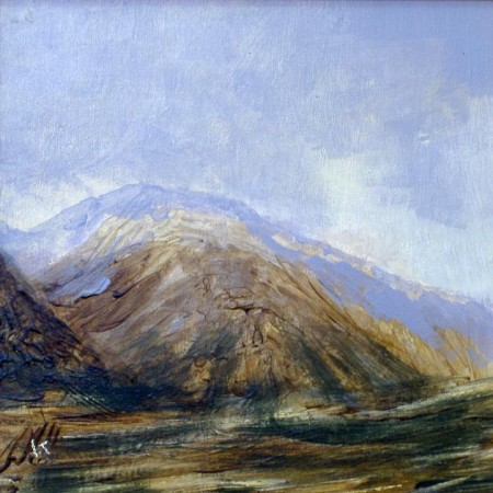 'Glen Etive, winter afternoon', Acrylic & Pastel, 2009, 30 x 30cm