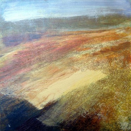 'From Beinn Inverveigh, October', Acrylic & Pastel, 2010, 60 x 60 cm