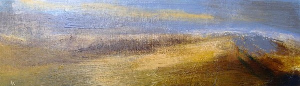 149 'On the edge of Rannoch Moor, December', Acrylic & Pastel, 2010, 76 x 23 cm