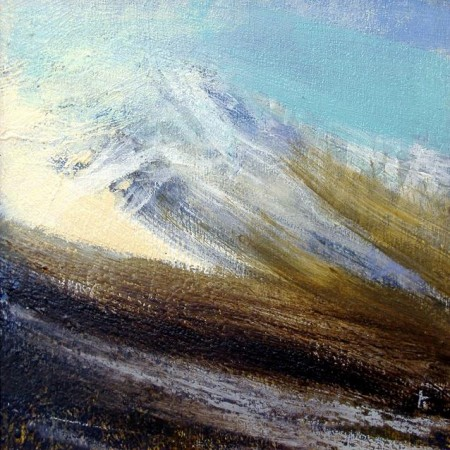 151 'Winter day, Blackmount', Acrylic & Pastel, 2010, 30 x 30 cm