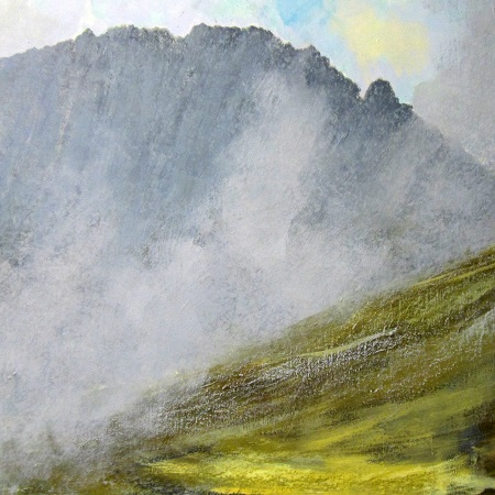 'Autumn mists, the Arran Hills'