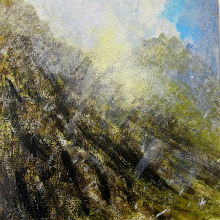 'Passing snow shower, on the slopes of Ben Loyal'