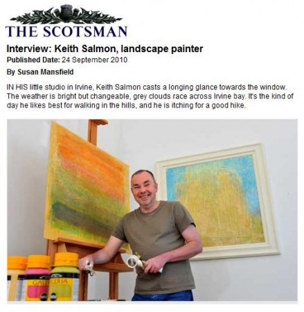Keith Salmon Interview, The Scotsman 24 Sept 2010