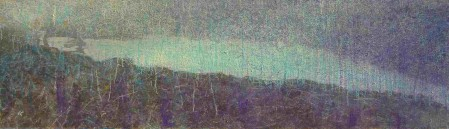 'After the storm_ the northern shores of Loch Lomond ', Acrylic & Pastel, 2006, 74.5 x 20.5cm Ref: 0.2
