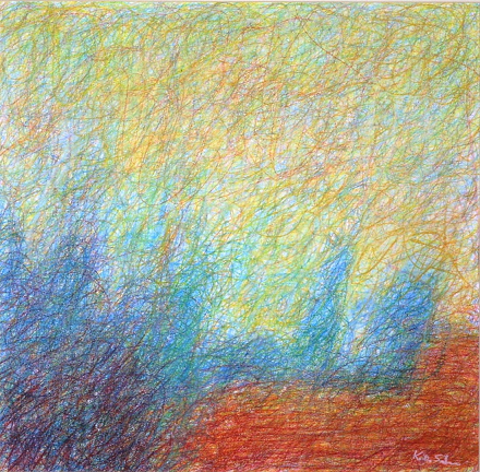 1.7 'Early Morning', Pastel, 2003, 45 x 45cm