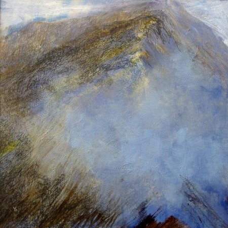 144 'Breaking cloud, Am Bodach', Acyrlic & Pastel, 2010, 80 x 80 cm