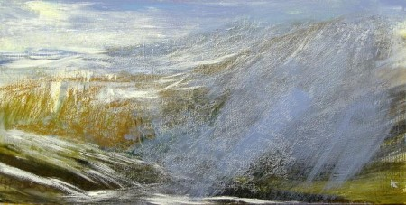 'Winter morning, above Glen Shee', Acrylic & Pastel, 2010, 60 x 30 cm