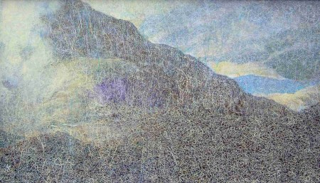 'From the slopes of Sgorr nam Fiannaidh, Glen Coe', Oil & Pastel, 2004 - 2006, 85 x 49cm, Ref: 22