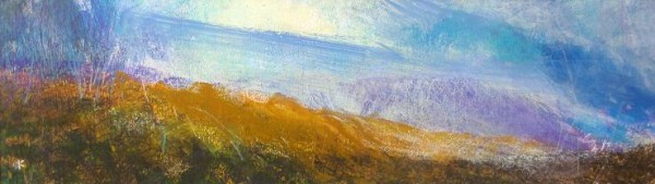 'Below Ben Oss, winter', Acrylic & Pastel, 2006 - 9, 76 x 23 cm