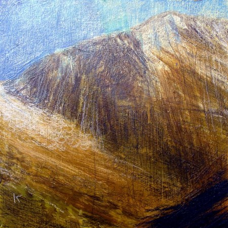 'In Glen Rosa, Isle of Arran', Acrylic & Pastel, 2010, 30 x 30 cm (Ref 158)