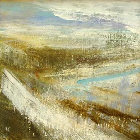 103 'Above Drumochter', Acrylic & Pastel, 2009, 30 x 30cm