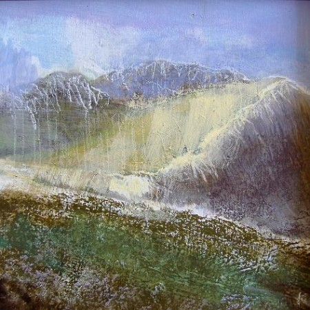 114 'Towards Am Bodach, Glen Coe', Acrylic & Pastel, 2009, 30 x 30 cm