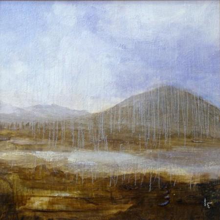 'Blackmount', Acrylic & Pastel, 2009, 30 x 30 cm