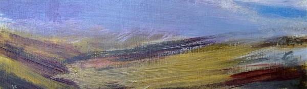 'Heavy weather, Drumochter', Acrylic & Pastel, 2010, 76 x 23 cm