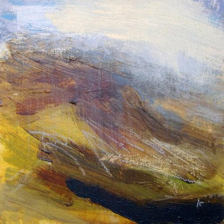 'On Rannoch moor', Acrylic & Pastel, 2010, 30 x 30 cm