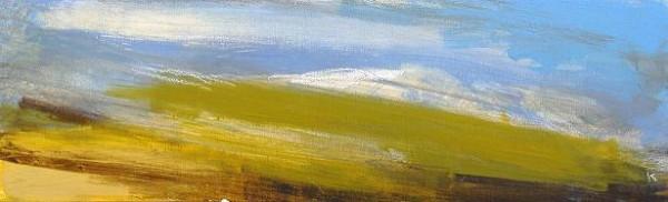 157 'On Ghlas Beinne, Rannoch Moor', Acrylic & Pastel, 2010, 76 x 23 cm