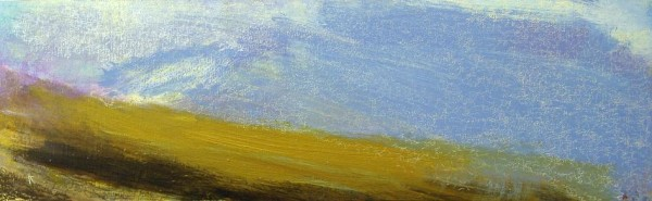 158 'Blackmount, winter', Acrylic & Pastel, 2010, 76 x 23 cm
