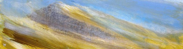 159 'Winter bands, Glen Rosa', Acrylic & Pastel, 2010, 76 x 23 cm
