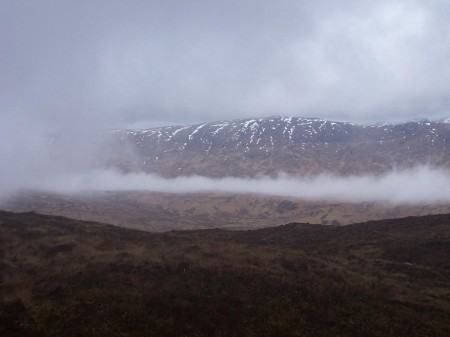 Breaking weather, above Glen Coe