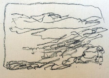 161 'Rannoch Moor, sketch', Pastel on gesso, 2010,