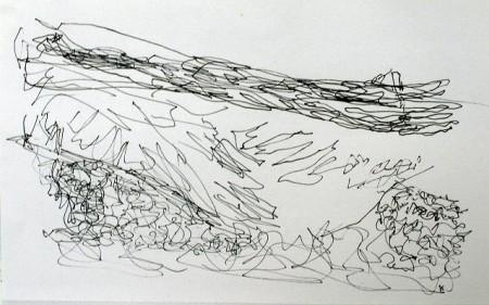 'Assynt coast line', Pen, 2009, 28 x 21 cm