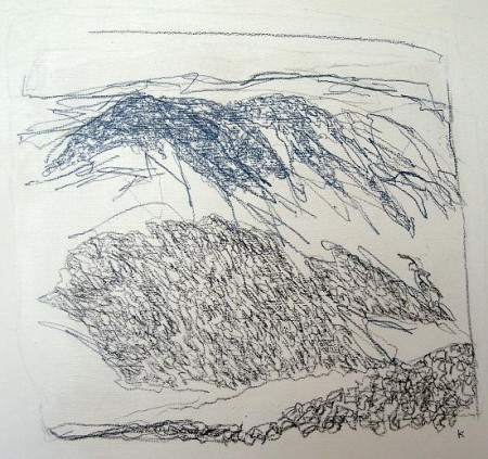 'From Conival', Pastel on gesso, 2010, 45 x 46 cm