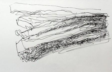'On Rannoch Moor', Pen, 2009, 28 x 21 cm