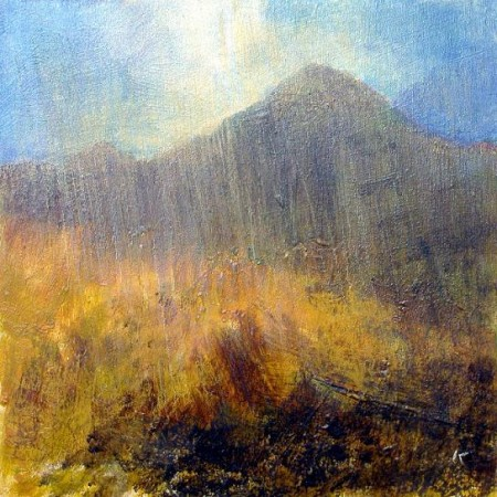 'Below Goat Fell, Isle of Arran', Acrylic & Pastel, 2010