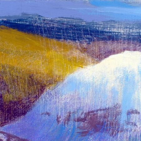 'East from Ben Lui, April', Acrylic & Pastel, 2010, 30 x 30cm