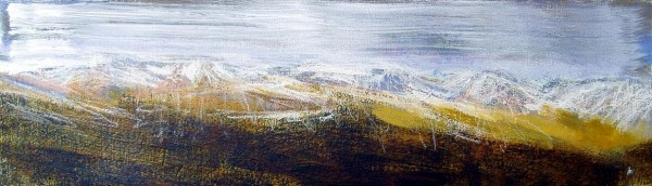 'The Ben Lawers group', Acrylic & Pastel, 2010, 76 x 23