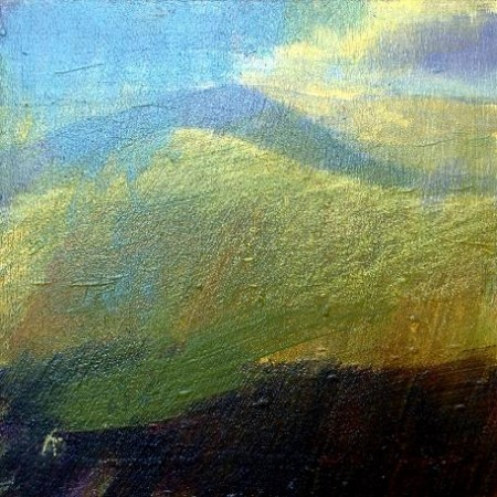 'On Beinn a' Ghlo, autumn', Acrylic & Pastel, 2010, 30 x 30 Ref:163