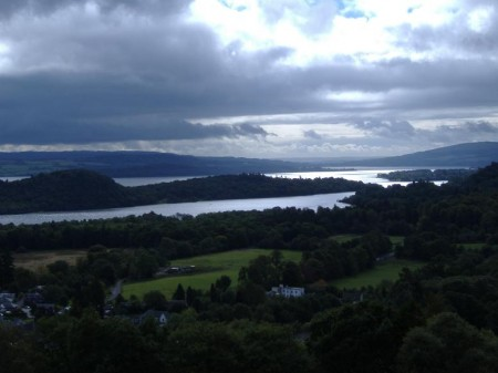 The first views of Loch Lomond