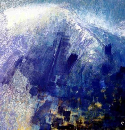 63  'Mists clearing Beinn Toaig', Acrylic & Pastel, 2007, 47