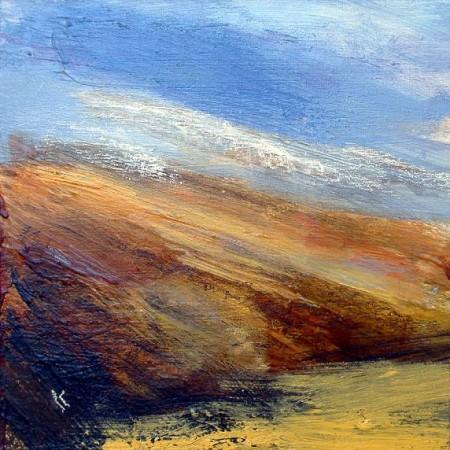 'Autumn grass, Beinn Inverveigh', Acrylic & Pastel, 2009 Ref 136