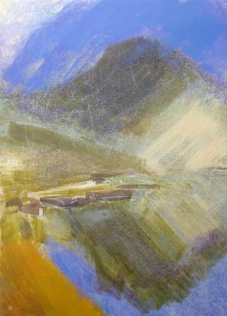 'Below Cul Mor, Assynt', Acrylic & Pastel, 2008, 80 x 110 Ref-95