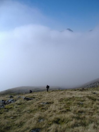 Breaking through the cloud, Beinn Odhar