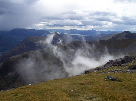 From Am Bodach, the Mamores