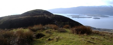 Near the summit of Conic Hill