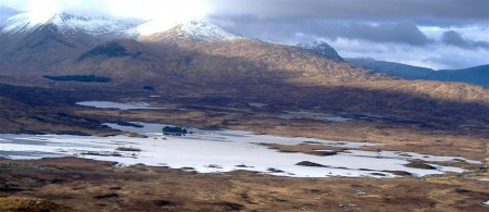 The wild landscape at the edge of Rannoch Moor