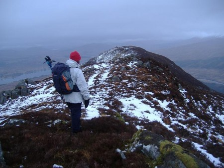 Descending Ben Inverveigh
