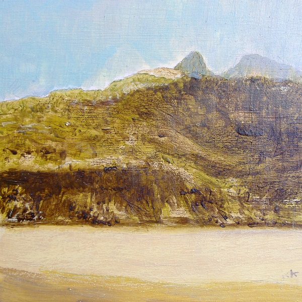 185 'Assynt skyline, May', Acrylic & Pastel, 2011, 30 x 30 cm