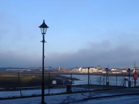 Irvine harbour side