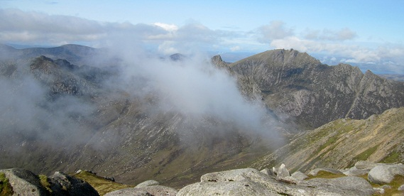 From Goat Fell ...the summit of Cir Mhor above the cloud