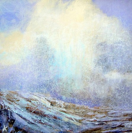'Approaching snow shower, Scottish Highlands'