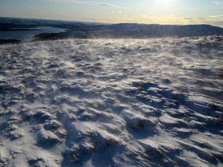 Wind blown snow, Beinn Dubh
